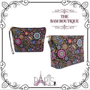 Handbags - Sugar Skull Art Cosmetic Bag/Wristlet